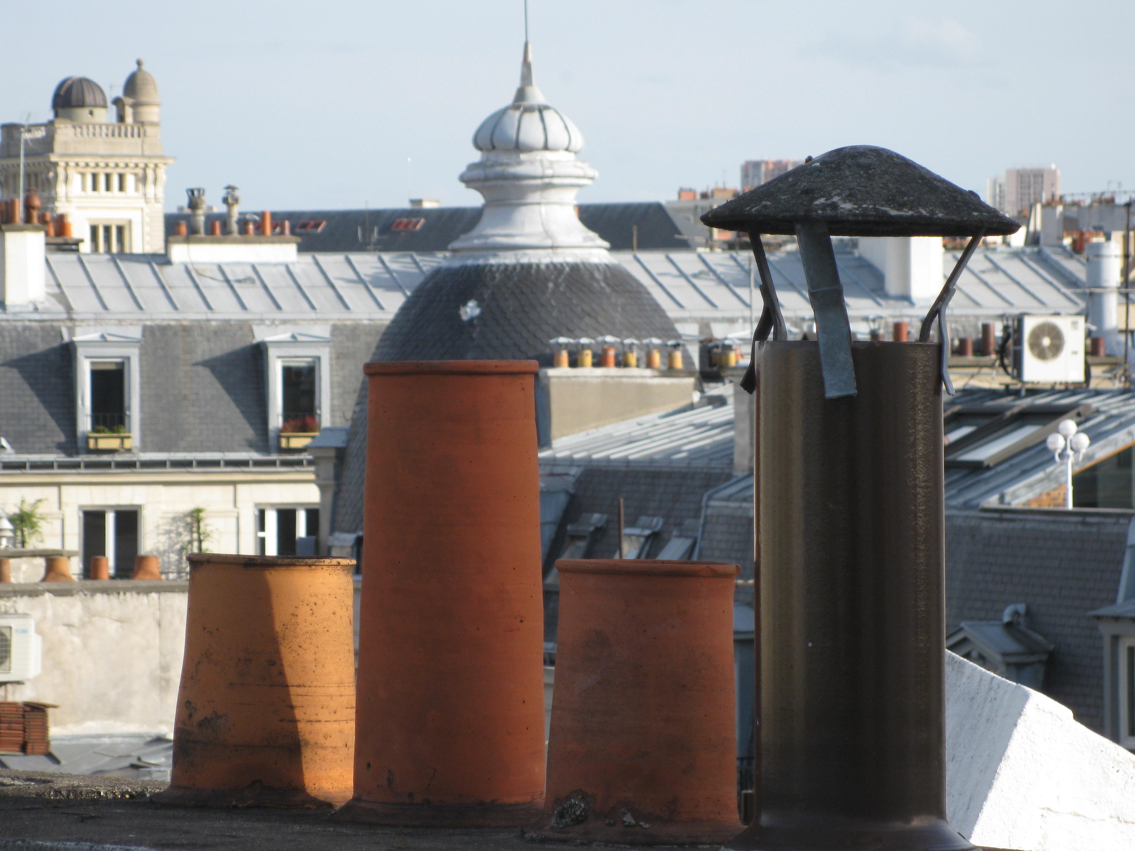 Chimney pots close up