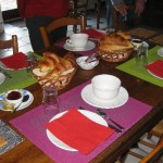 Our breakfast at Hotel Manoir de Rigourdaine
