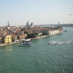 The view of Venice from our balconey.